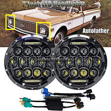 7Inch Round LED Headlight H4 H13 Hi/Low Beam DRL For Chevrolet Chevy C10 C20 C30