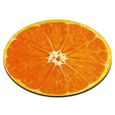 Orange Half Circle Fruit Food Funny Gift PC Computer Mouse Mat Pad