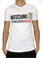 SALE! LOVE MOSCHINO Short Sleeve White T-shirt Under Bear