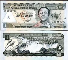 ETHIOPIA 1 BIRR 1989/1997 P 46 46a UNC