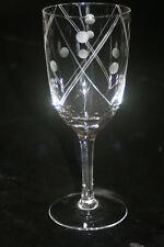 beau verre ancien en cristal gravé de Bohéme(3)