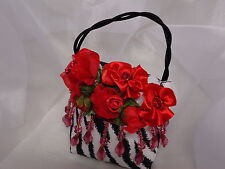 Handmade Decorative Purse, beads. Rose Pot Pourri, fragrance. Mothers Day gift