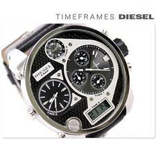 New Diesel DZ7125 XXL Silver Oversize Big Watch 4 Time Zone Men's Watch 30M.