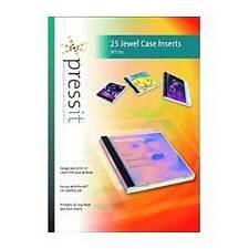 PRESSIT CD JEWEL CASE INSERTS  25 INSERTS PER PACK PLAB01109