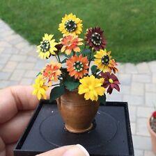 Autumn Sunflower Arrangement Planter Paula Gilhooley Flowers Dollhouse Miniature