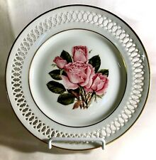 "B & G Danbury Mint The 12 Rose Plates 8 1/2"" Queen Elizabeth Plate"
