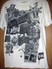 Zoo York NYC Photo Graffiti T-Shirt Black n White Men's Size Small Unbreakable