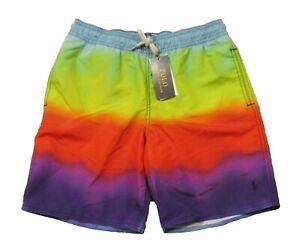 Polo Ralph Lauren Boys Multicolor Tie-Dye Swim Trunks