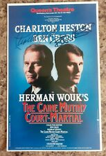 More details for charlton heston ben cross personally signed theatre flyer