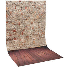 New Photography Background Studio Photo Thin Backdrop 3X5FT Wood Grain Brick