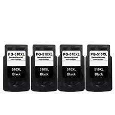 4 Black ink Cartridges for Canon PG510 XXL Pixma MP250 MP252 MP260 MP270 MP272