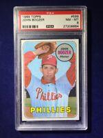 1969 Topps John Boozer #599 PSA 8 Philadelphia Phillies