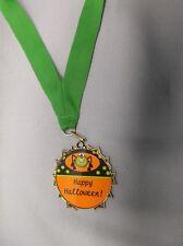 happy halloween trophy costume party award medal green drape