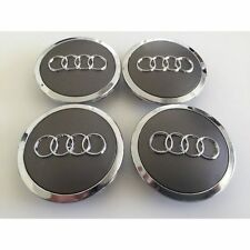 4pcs 69mm Gray Wheel Rim Hub Center Caps Covers for Audi A3 A5 A4 A6 A7 A8 Q7 TT