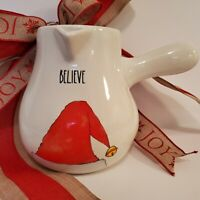 Rae Dunn Hot Chocolate Cocoa Pot Believe Red Santa Hat Pouring Handle