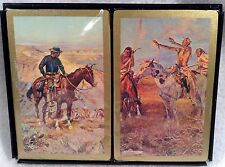 Charles M. Russell Hoyle Playing Cards Western 2 Decks Pinochle Sealed Vintage