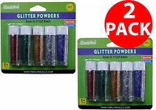 2 Pack Decorative Craft Glitter Powder Tube For DIY School Craft Art 0.17oz Each