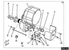 Rocko-Bike V1 Elektro-Moped 48Volt 1500Watt Motor + Getriebe Ersatzteil 11-13