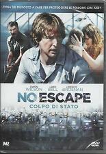 No escape. Colpo di stato (2015) DVD