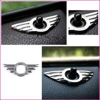 3D Emblem Chrome Door Pin Lock Wing Cooper Badge Logo For BMW MINI R50 R53 R56
