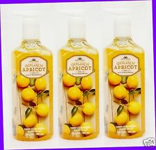 3 Bath & Body Works FRESH PICKED GOLDEN APRICOT Deep Cleansing Hand Soap