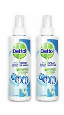 2 x Dettol Spray and Wear Fresh Cotton 250ml For Clothes & Fabric