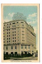 Vintage Postcard NIAGARA FALLS CANADA Hotel General Brock