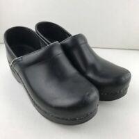 Dansko Womens Clog Shoes Black Slip On Wedge Heel 7.5-8 EUR 38