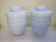 très belle paire de grand vase en opaline bleu ciel
