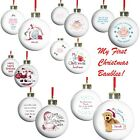 PERSONALISED Baby1st Babies First Christmas Tree Decoration Ornament Bauble Gift
