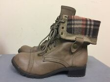 MARCO REPUBLIC women  Combat Boots -man made materials-Taupe color  -Size 7
