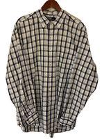 Men's Polo Ralph Lauren Blue Plaid Button Down Shirt Size XL L/S Marlowe