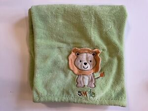Carters Lion Smile Baby Blanket Plush Bright Green Security Lovey Child of Mine