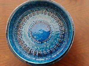 Vintage Bitossi dish Aldo Londi Rimini Blue  footed bowl