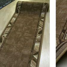 feiner Teppich Läufer *AW CORRIDO 34 Lederbraun* 80 cm breit NEU