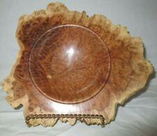 Handmade Natural Edge Burl Bowl