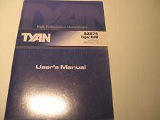 Tyan Tiger K8W S2875 Manual
