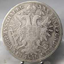 1 Taler 1858 B, Franz Joseph, Kremnitz, Silber .900