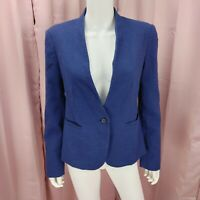 LOFT Ann Taylor Women's Blue Long Sleeve  Blazer Jacket Size 6