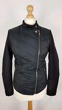 #583 Barbour International Dunnet Ladies Black Fibredown Hybrid Jacket, UK 10