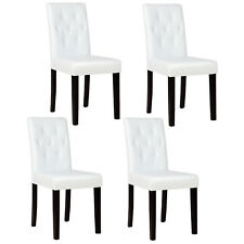 Dining Chairs Set of 1/2/4/6/8/10/12 pieces Leather in Black / Brown / White