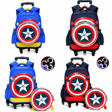 Marvel Avenger Captain American Backpack School Trolley Bag for Boys Kids Gifts