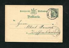 Württemberg P34  aus Hall  2 Juli 1893   (EB-16)
