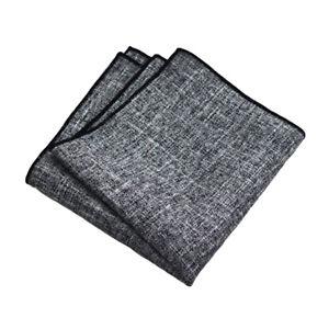 Men Simple Plain Linen Cotton Pocket Square Hanky Business Party Handkerchief