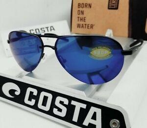 """COSTA DEL MAR black/blue """"HELO"""" POLARIZED 580P sunglasses! NEW IN BOX!"""