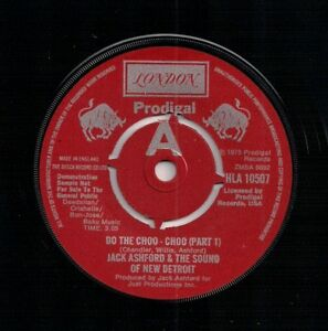 70s SOUL 45 JACK ASHFORD - DO THE CHOO-CHOO - PARTS 1&2 UK LONDON PROMO N/MINT