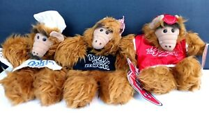 """Burger King ALF Alien Puppets """"The Many Faces Of Alf"""" Cooking Sports Rock Star"""