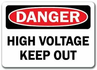 DANGER HIGH VOLTAGE Aluminum 8 x 12 Metal Novelty WARNING Sign