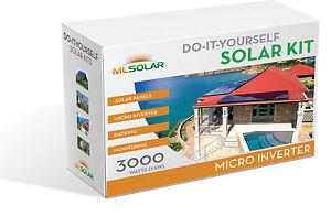 3Kw Complete Solar Kit 260W POLY Solar Panel Micro Inverters Rail-Less Racking