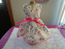 doll dress for 18 inch american girl handmade pink blue flower ribbon lace 8